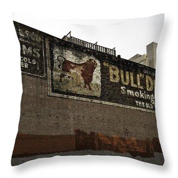 San Francisco Old Bull Durham Ad Throw Pillow