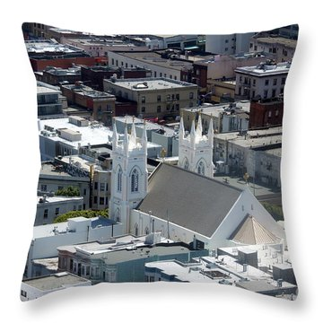 San Francisco St Francis Of Assisi Church Throw Pillow by Henrik Lehnerer