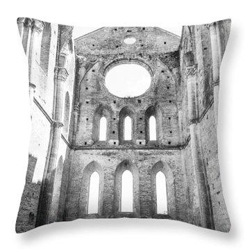 San Galgano Abbey Throw Pillow by Ralf Kaiser