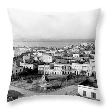 San Juan - Puerto Rico - C 1900 Throw Pillow by International  Images