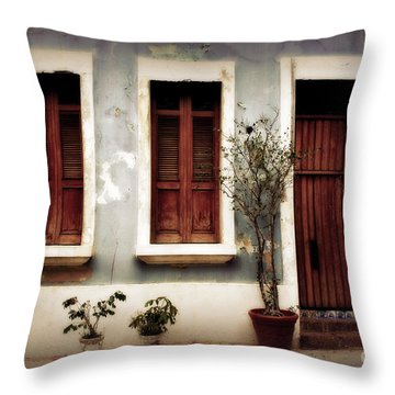 San Juan Living Throw Pillow by Perry Webster