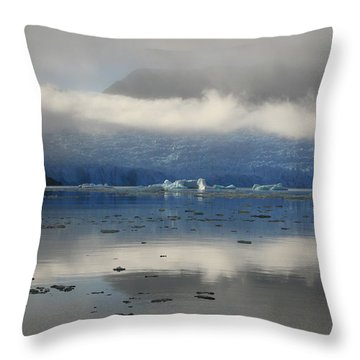 Throw Pillow featuring the photograph San Rafael Glacier by Laurel Talabere