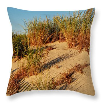 Sand Dune II - Jersey Shore Throw Pillow
