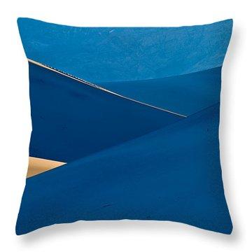 Sand Dunes Sunrise Throw Pillow by Steve Gadomski