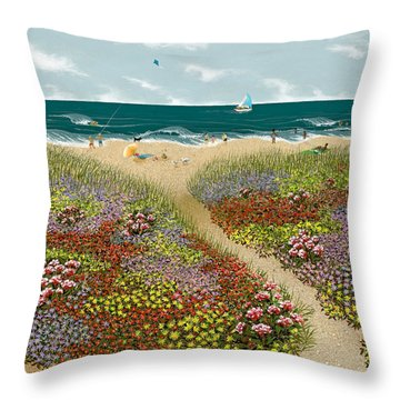 Sand Path Throw Pillow