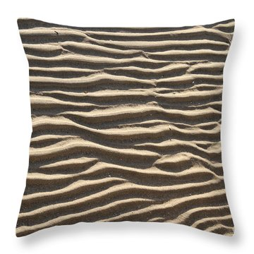 Sand Ripples Throw Pillow by Photo Researchers, Inc.