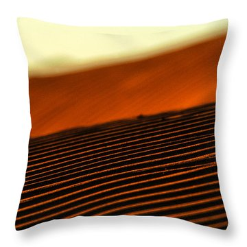 Sand Rows Throw Pillow