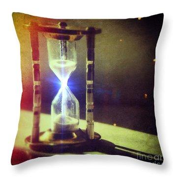 Sand Through Hourglass Throw Pillow