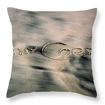 Sandscript Throw Pillow
