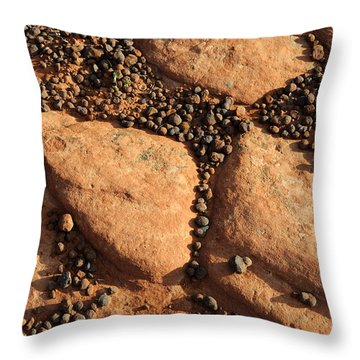 Sandstone And Pebbles Throw Pillow by Gary Whitton