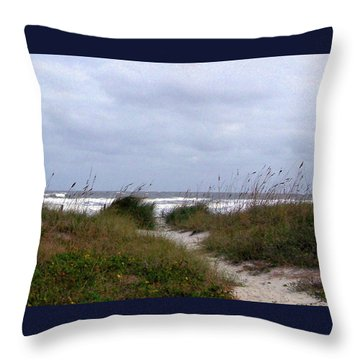 Sandy Path To The Beach Throw Pillow by Patricia Taylor