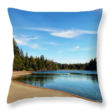 Sanjo Beach Throw Pillow