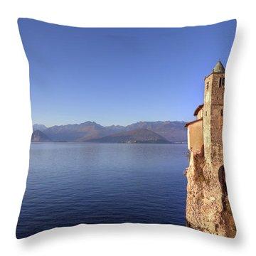 Santa Caterina Del Sasso Throw Pillow