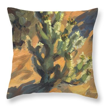 Santa Rosa Cholla Throw Pillow