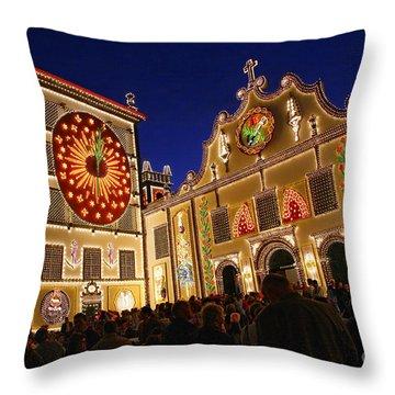 Santo Cristo Festivities Throw Pillow by Gaspar Avila