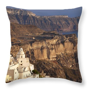 Santorini Throw Pillow by Brian Jannsen