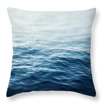 Sapphire Waters Throw Pillow by Lisa Russo
