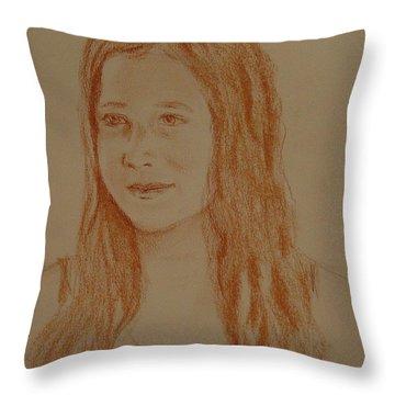 Throw Pillow featuring the painting Sarah by Carol Berning