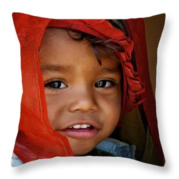 Sarangkot Baabu Throw Pillow by Valerie Rosen