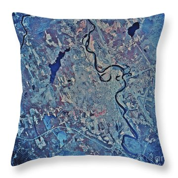 Satellite View Of Concord, New Throw Pillow by Stocktrek Images