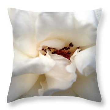 Satin White Throw Pillow