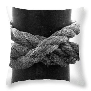 Saugerties Lighthouse Rope Knot Photograph Throw Pillow by Kristen Fox