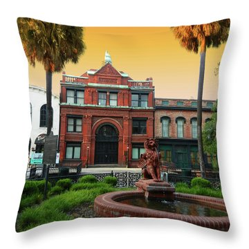 Throw Pillow featuring the photograph Savannah Cotton Exchange by Paul Mashburn
