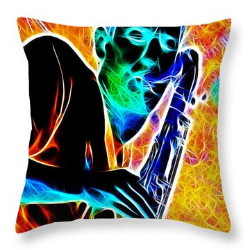 Sax Throw Pillow by Stephen Younts