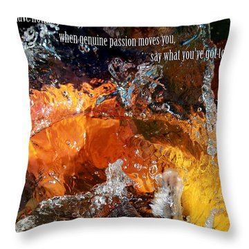 Say It Hot Throw Pillow by Elizabeth Hart