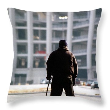 Saying Goodbye Throw Pillow by Susan Stevenson