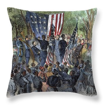 Sc: Emancipation, 1863 Throw Pillow by Granger