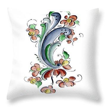 Scandinavian Flower I Throw Pillow by Judy Dodds