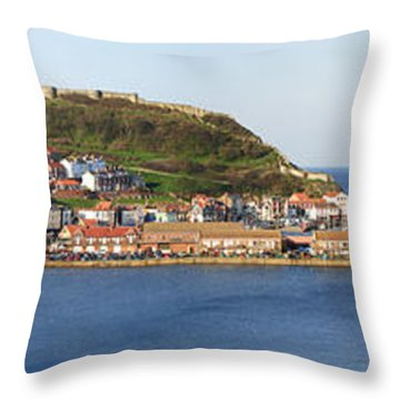 Scarborough Panorama Throw Pillow by Jane Rix