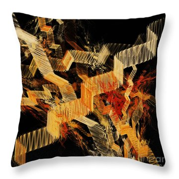 Scare Case Stair Case Throw Pillow by Andee Design