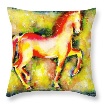 Scarlet Beauty Throw Pillow