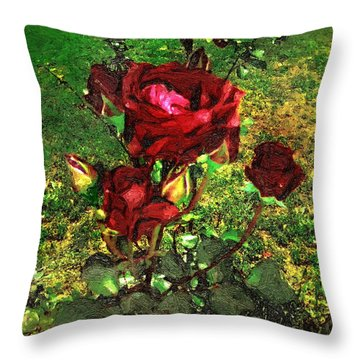 Scarlet Sentinels Throw Pillow by RC DeWinter