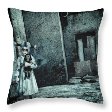 Scary Place Throw Pillow by Jutta Maria Pusl