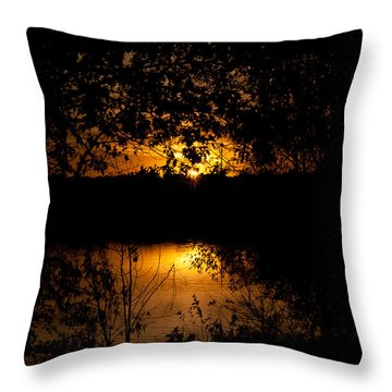 Scary Sunset Throw Pillow