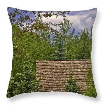 Scene Through The Trees - Vail Throw Pillow by Madeline Ellis