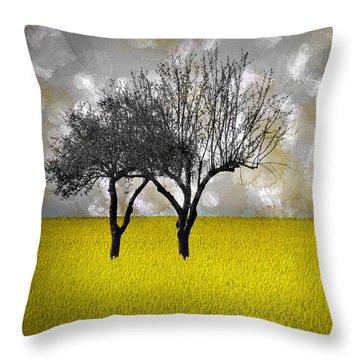 Scenery-art Landscape Throw Pillow by Melanie Viola