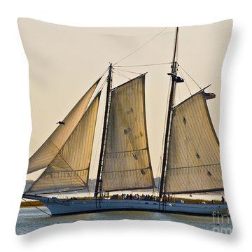 Scenic Schooner Throw Pillow by Al Powell Photography USA