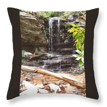Scenic Waterfall Throw Pillow