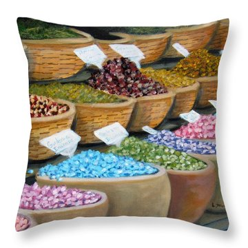 Scents For The Senses Throw Pillow by Laurie Morgan