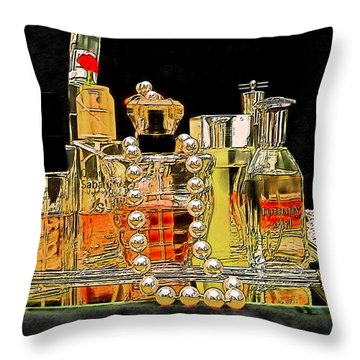 Throw Pillow featuring the photograph Scents Of A Woman by DigiArt Diaries by Vicky B Fuller