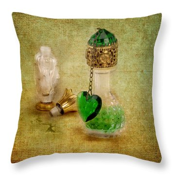 Scents Of Days Gone By Throw Pillow by Jai Johnson