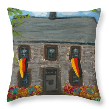 Schifferstadt Architectural Museum II Throw Pillow
