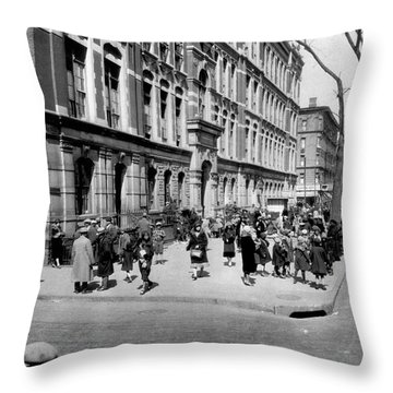 School's Out In Harlem Throw Pillow by Underwood Archives