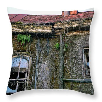 Schools Out Throw Pillow by Pamela Patch