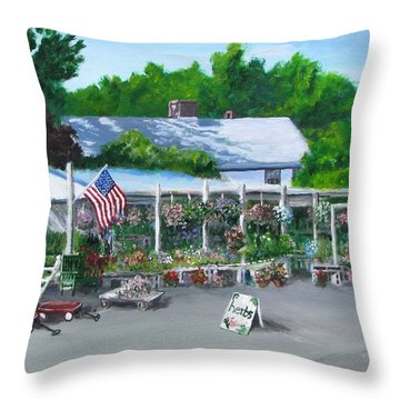 Scimone's Farm Stand Throw Pillow by Jack Skinner