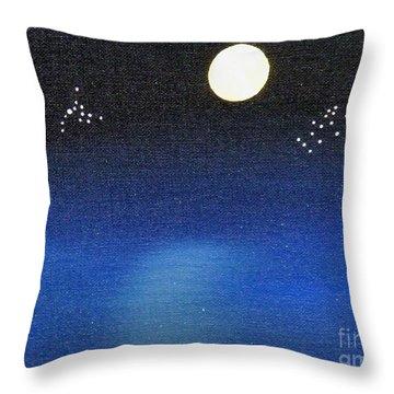 Scorpio And Aquarius Throw Pillow by Alys Caviness-Gober